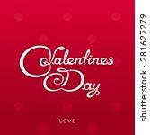 white calligraphy lettering  ... | Shutterstock . vector #281627279