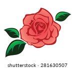 pink rose illustration isolated ...   Shutterstock .eps vector #281630507