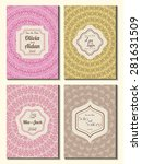 set of perfect wedding card... | Shutterstock .eps vector #281631509