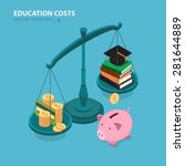education costs flat isometric... | Shutterstock .eps vector #281644889