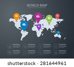 world map infographic template. ... | Shutterstock .eps vector #281644961