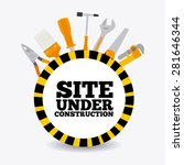 under construction design over... | Shutterstock .eps vector #281646344