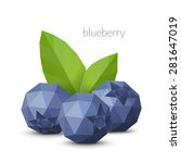 polygonal berry   blueberry.... | Shutterstock .eps vector #281647019