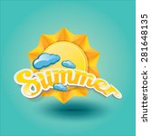 vector summer label. summer... | Shutterstock .eps vector #281648135