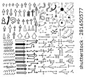 doodle arrow icons set with... | Shutterstock .eps vector #281650577