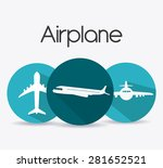 airplane design over white... | Shutterstock .eps vector #281652521