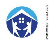 home real estate community logo ... | Shutterstock .eps vector #281652671