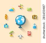 illustration flat set icons of...   Shutterstock . vector #281653487