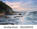Mystical Sea Coast After The...