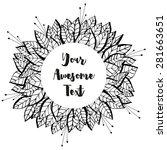 hand drawn vector circular... | Shutterstock .eps vector #281663651