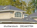 the roof of the house with nice ... | Shutterstock . vector #281665784