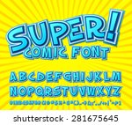 creative high detail comic font.... | Shutterstock .eps vector #281675645