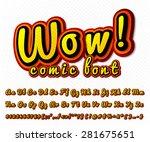 creative high detail comic font.... | Shutterstock .eps vector #281675651