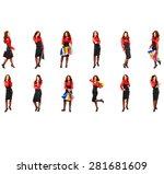 workforce concept teamwork... | Shutterstock . vector #281681609