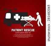 patient rescue symbol vector...   Shutterstock .eps vector #281682065