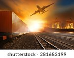 industries container trains... | Shutterstock . vector #281683199