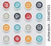 communication contour icons... | Shutterstock .eps vector #281687321
