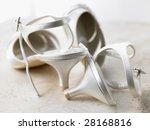 Abandoned Silver High Heels