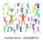 team achievement success... | Shutterstock .eps vector #281688914