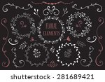 hand drawn floral elements | Shutterstock .eps vector #281689421