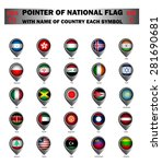 pointer of national flag around ... | Shutterstock .eps vector #281690681