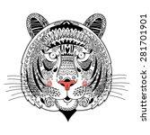 graphic portrait ornamental...   Shutterstock .eps vector #281701901