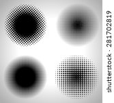 set of abstract halftone... | Shutterstock .eps vector #281702819