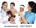 two pediatricians with... | Shutterstock . vector #28170634