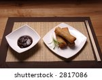 chinese spring rolls with hoi... | Shutterstock . vector #2817086