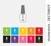 nail polish bottle icon   vector | Shutterstock .eps vector #281708819