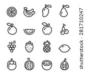 fruit icon set  line version ... | Shutterstock .eps vector #281710247