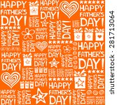 happy father day. seamless... | Shutterstock .eps vector #281713064