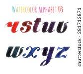 watercolor alphabet vector | Shutterstock .eps vector #281713871