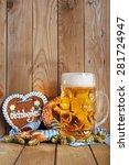original bavarian gingerbread...   Shutterstock . vector #281724947