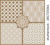 seamless islamic patterns set... | Shutterstock .eps vector #281725361