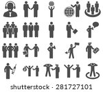 management and people... | Shutterstock .eps vector #281727101