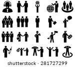 management and people... | Shutterstock .eps vector #281727299
