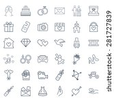 wedding icon set | Shutterstock . vector #281727839