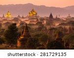 Pagoda Landscape Under A Warm...