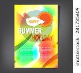 summer brochure | Shutterstock .eps vector #281735609