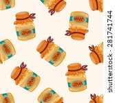 jam   cartoon seamless pattern... | Shutterstock .eps vector #281741744