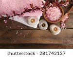 beautiful spa composition with... | Shutterstock . vector #281742137