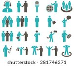 management and people... | Shutterstock . vector #281746271