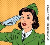 Woman Pilot Stewardess Shape...