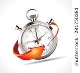 stopwatch   turn back time | Shutterstock .eps vector #281750381