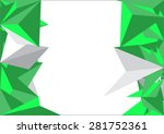 polygon mosaic background... | Shutterstock .eps vector #281752361