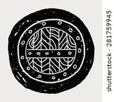 shield doodle | Shutterstock .eps vector #281759945