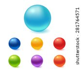 collection of colorful glossy... | Shutterstock .eps vector #281764571