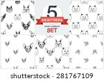 detailed realistic hand drawn... | Shutterstock .eps vector #281767109