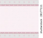 Pink Background With Lace Border